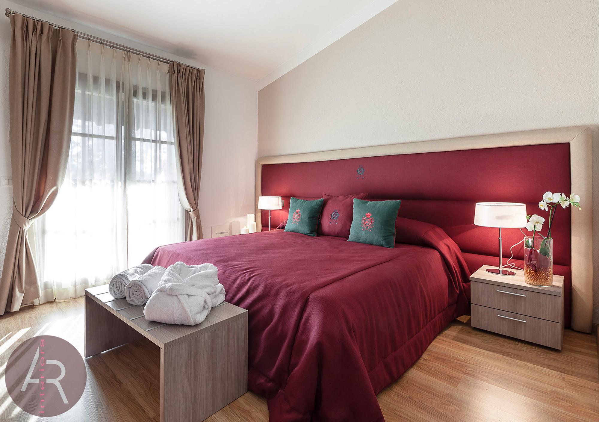 Villa d'Este - camera da letto - Portfolio Andrea Ravasi Interior Designer