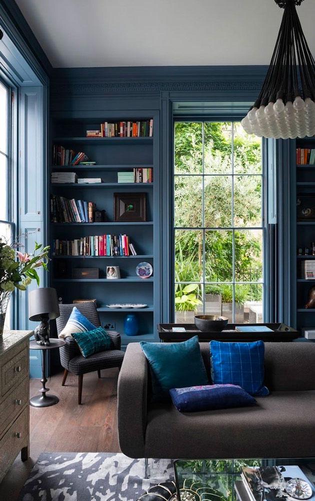 il blu nell'interior design